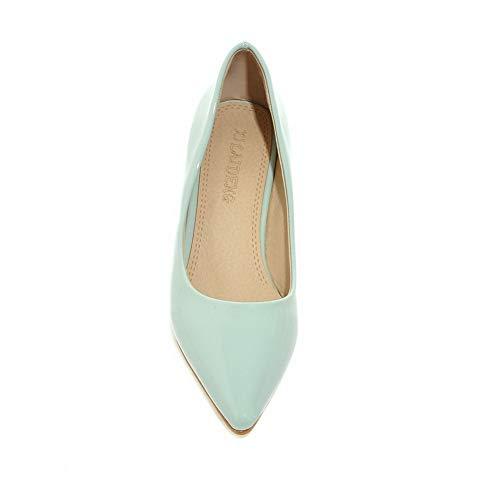 Bleu Femme Sandales SDC05621 AdeeSu Compensées xZIqtan