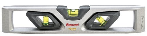 (Starrett Exact Plus KLTXP10-N Die-Cast Aluminum Torpedo Magnetic Level with 3 Plastic 360° Vials, 10
