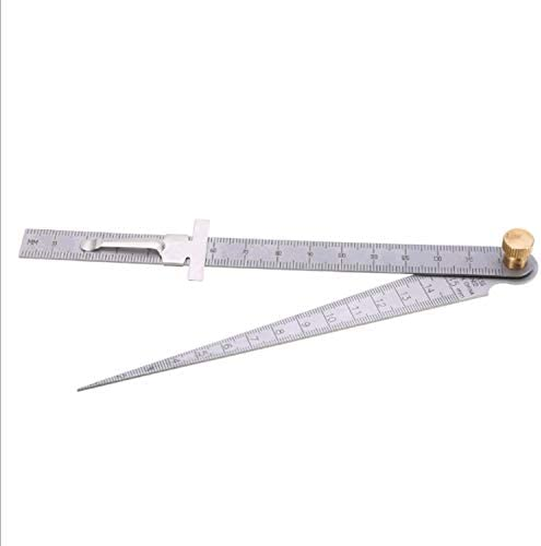 クリアランスルーラーアパーチャー測定ステンレステーパールーラー1〜15mm 小さなハードウェアツール