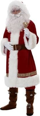 Rubie's Super Deluxe Old-time Santa Suit, Red/White, Standard ()