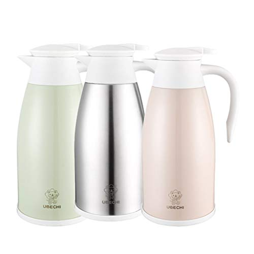 B Blesiya Set of 3, 2.0 Litre Stainless Steel Thermal Coffee Carafe, Double Wall Vacuum Jug Bottle, 24 Hours Heat Retention ()