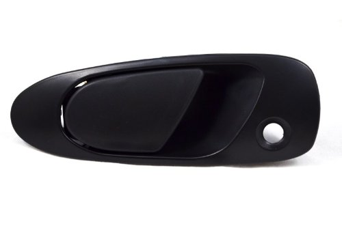PT Auto Warehouse HO-3228S-FL - Outside Exterior Outer Door Handle, Smooth Black - Driver Side Front (Civic 95 Handle Honda Door)