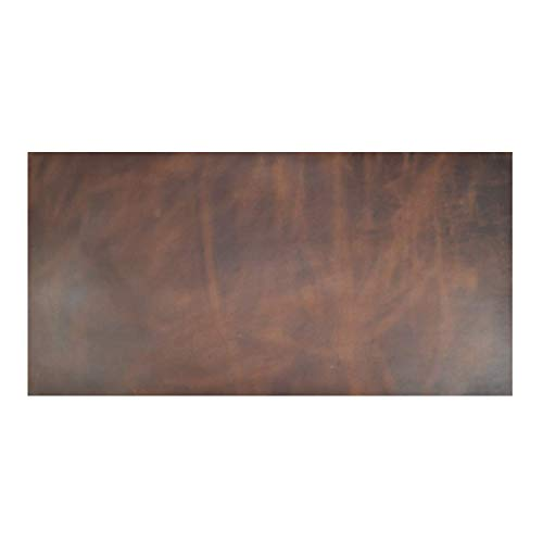 Leather Square (12 x 24 in.) for Crafts/Tooling/Hobby Workshop, Medium Weight (1.8mm) by Hide & Drink :: Bourbon Brown