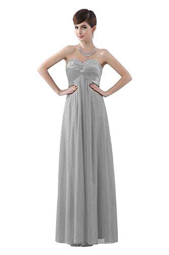 Beauty-Emily Beeded cordones sin tirantes vestidos de vestir diseño de vestido de fiesta gris