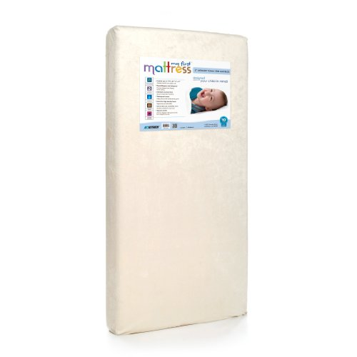 My First Crib Mattress, Breathable Memory Foam Crib Mattress with Removable Protective Waterproof Cover, Plush, and Hypoallergenic