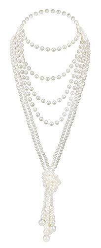 Zivyes Fashion Faux Pearls 1920s Pearls Necklace Gatsby Accessories 59