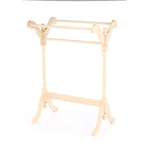 Solid Parawood Imogene 3 Rails Quilt Rack by August