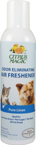 Citrus Magic Odor Eliminating Air Freshener Pure Linen 7 Ounce Spray, My Pet Supplies