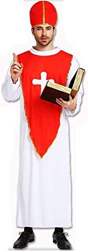 コスチューム コスプレ衣装 宣教師 修士 牧師 神父 大人用 メンズ コスプレ パーティーグッズ ハロウィン 衣装 仮装 変装 おもちゃ クリスマス祭 (フリーサイズ)
