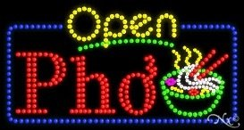 (Pho Open LED Sign (High Impact, Energy Efficient))