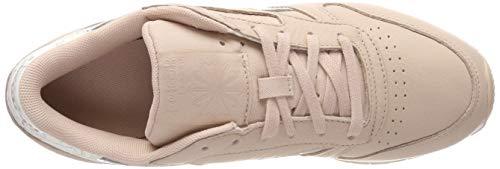 Bare Zapatillas Cl Mujer Beige para Beige White Sidestripes Beige Lthr de Sidestripes Gimnasia Reebok Bare White AFfwqB