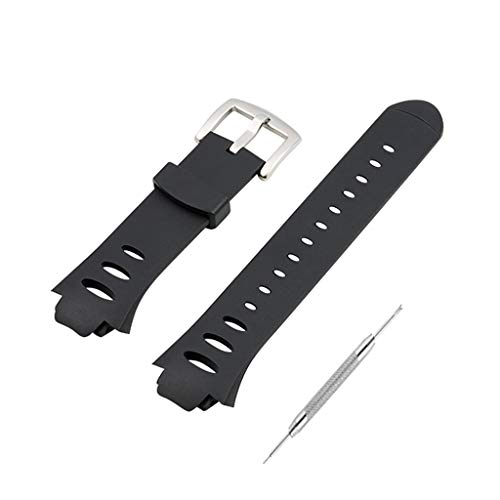 (TeemorShop Wrist Watch Band Soft Silicone Wrist Bracelet Durable Replacement Screwdriver for Suunto Observer SR SS0S4723000 X6HRM)