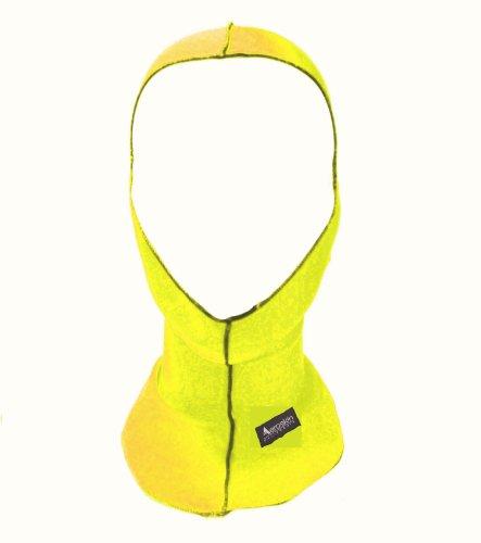 (Aeroskin Nylon Spandex Solid Hood, Neon Yellow)