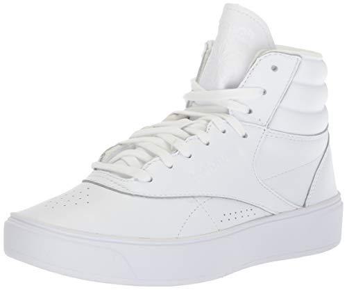 Reebok Women's Freestyle Hi Nova Sneaker, mid-White/Ultra Purple, 7 M US ()
