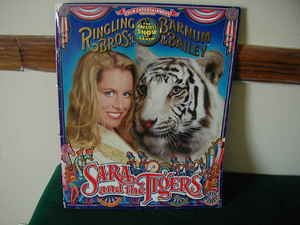 Ringling Brothers Barnum & Bailey Circus Program Sara and the Tigers ()