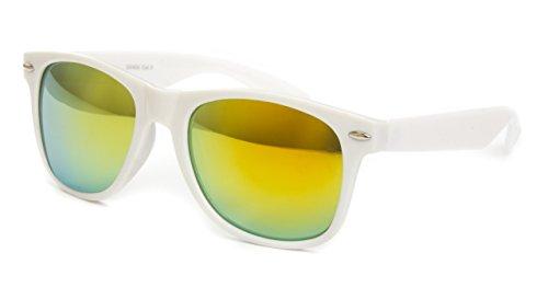 et disponibles verspiegelt style clear style Gelb 80 paire style Nerd wayfarer de différents soleil coloris aviateur U2 de vintage lunettes modèles env Weiß lunettes THP4qABwP