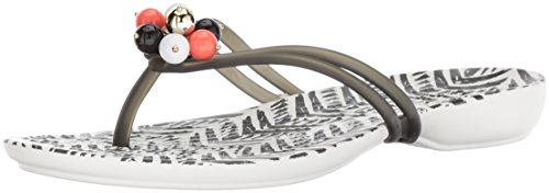 Crocs Women's Drew Barrymore Isabella Flip Flop, Black/White, 10 M US