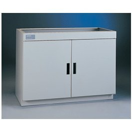 Labconco Protector 9900800 Epoxy Coated Steel Standard Storage Cabinet without ADA Compliant, Left Hinge Single Door, 12