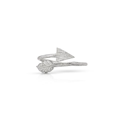 Koral Jewelry Feather Arrow Wrap Adjustable Ring 925 Sterling Silver US Size 6 7 8 9 (6) (Arrow Ring Wrap)