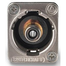 Switchcraft EHRCA2X RCA to RCA Barrel Connector - Switchcraft Chassis Mount