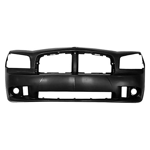 Replacement Front Bumper Cover Fits Dodge Charger: SRT8 W/O Park Assist Sensors W/O Tow Hook With Fog ()
