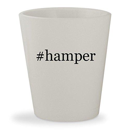 Clothes Laundry Triple Tilt Out (#hamper - White Hashtag Ceramic 1.5oz Shot Glass)