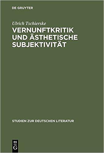 Book Vernunftkritik Und Asthetische Subjektivitat: Studien Zur Anthropologie Friedrich Schillers