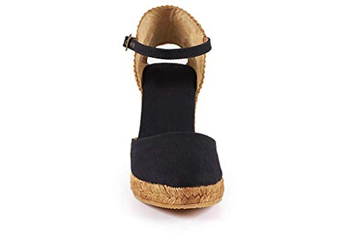 5a1d1a2485228 Nailyhome Womens Espadrille Wedge Sandals Closed Toe Platform Buckled Ankle  Strap Slingback Sandals