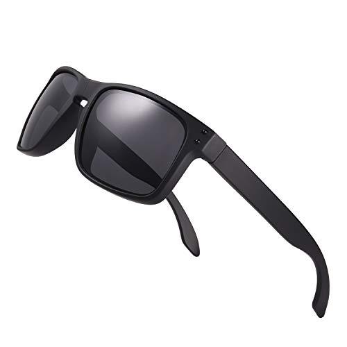 Premium Polarized Sport Sunglasses for Men Women UV400 Mirrored Square Shades for Driving Fishing Outdoor TR90 Frame