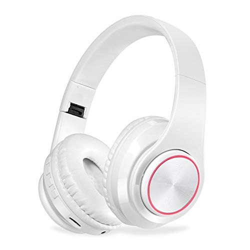 BVCW LED Colorful Breathing Lights Portable Folding Built-in FM Wireless Bluetooth Headphones With MIC Support TF Card…