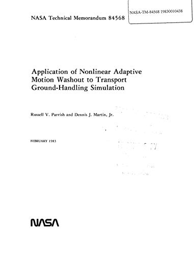 Application of nonlinear adaptive motion washout to transport ground-handling simulation