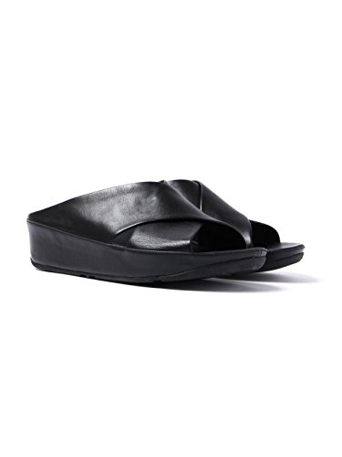 Toe Open Criss Black Cross Womens All Slide fitflop Sandals KYS qpPtIv