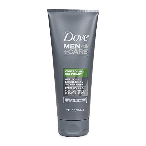 DOVE MEN +CARE CONTROL GEL WET LOOK STRONG HOLD SMOOTH FINISH ALCOHOL FREE