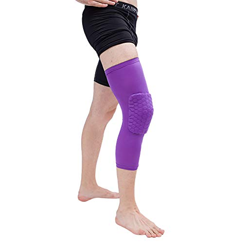 CapsA Knee Brace for Women Men Sports Basketball Knee Pads Adult Kneepad Football Knee Brace Support Leg Elbow Protect (Purple, XL)