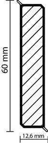 Laminat und PVC Abschlussleiste Wandabschlussprofil metallic Paket a 25m Kransen-Floor Cubu Flex Life Premium Champagner 1191-60mm hohe Holzkernsockelleiste mit Echtmetall-Folien-Ummantelung f/ür Vinylboden