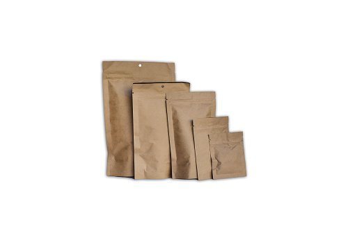1000 Pcs Mylar Bag Natural Kraft Barrier Pouches with 3.5'' x 4.5'' by Mylar
