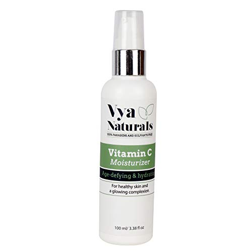 New Vya Naturals Vitamin C Face Moisturizer Cream - Age Defying & Hydrating Lotion With Almond Oil