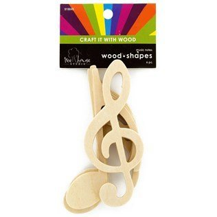 Amazon Com Wooden Music Notes From Thecraftycrocodile Arts Crafts