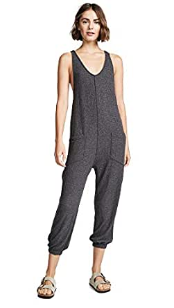 Spiritual Gangster Women's Hacci Jumpsuit, Vintage Black, X-Small