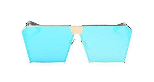 Glace polarisées B cercle rond de en du inspirées Lennon métallique de soleil Tablettes lunettes vintage Bleue style retro gwAEZgq