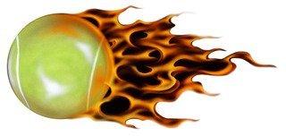 Flaming Tennis Ball - 8
