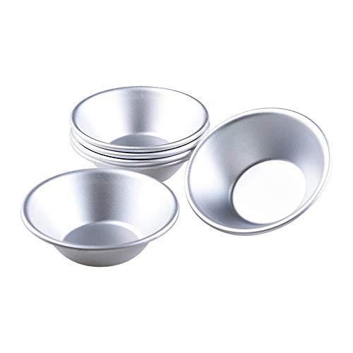 (Bakerdream 12 Pcs Aluminum Egg Tart Mold Cupcake Tin Mini Pie Pans Anodized Tart Pan Tart Bakeware Muffin Cake Mould Baking Cups (12 pcs Tart Mold))