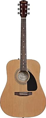 Fender FA-100 Dreadnought Acoustic Guitar Pack with Gig Bag, Tuner, Strings, Strap, and Picks