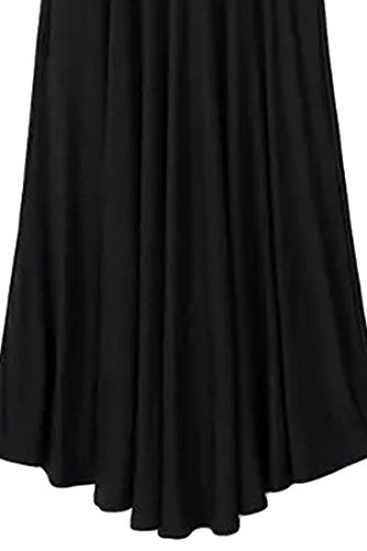 ACHICGIRL Women's Modest Five Colors Pleated Skirt Black