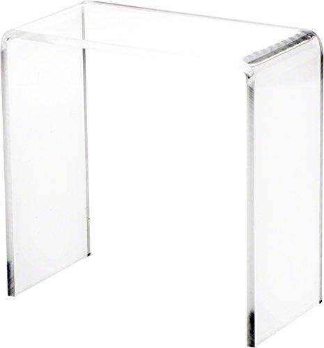 "Plymor Brand Clear Acrylic Tall Rectangular Riser, 7"" H x 7"" W x 3.5"" D (1/4"" Thick)"