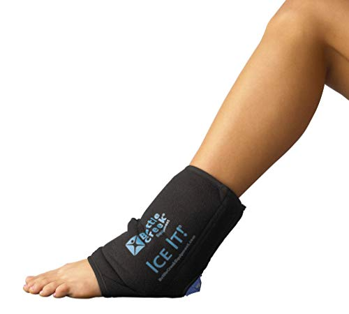 Foot Therapy System - Cold & Hot Therapy System Ice Pack Wrap for Ankle, Elbow and Foot - Ice It!® MaxCOMFORTTM (Ankle/Elbow/Foot Design; 10 ½