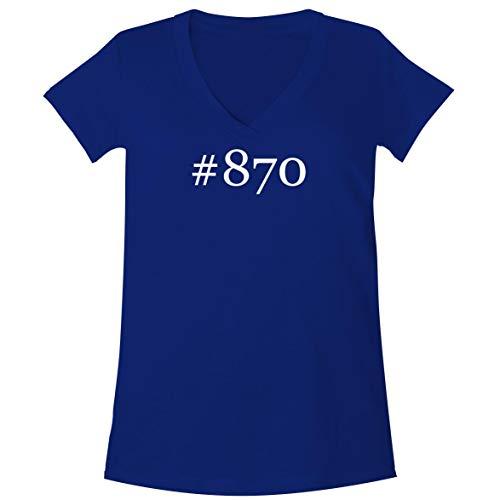 The Town Butler #870 - A Soft & Comfortable Women's V-Neck T-Shirt, Blue, Medium