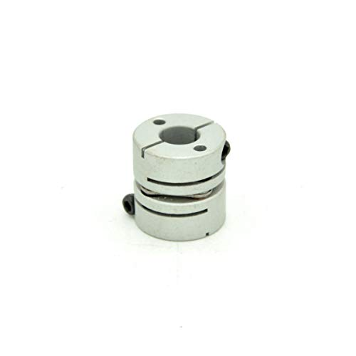 RobotDigg DFC19L20S635 Single Disc Flexible Coupling 6.35mm to 8mm Motor Wheel Flexible Coupling Joint Silver Color Diaphragm Coupling Pack of 2pcs by RobotDigg