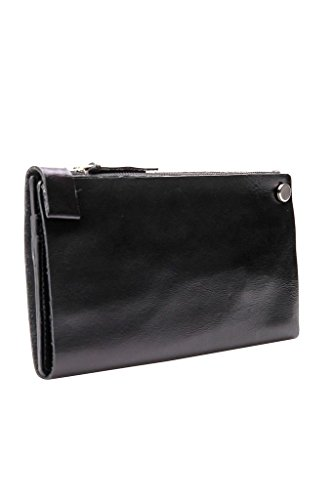 Wallet Long Anne Mens Anne Kokke Genuine Black Leather Multipurple Kokke 8vw0w