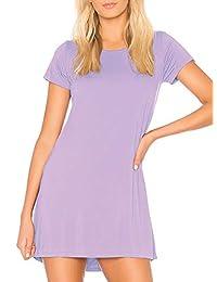H HIAMIGOS Women's Nightgown Sleep Dress Built in Bra Sleep Tee Nightshirt